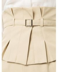 Loveless - Natural Belted Midi Pencil Skirt - Lyst