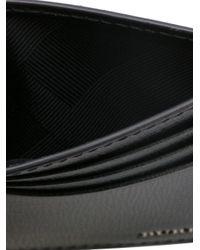 Burberry - Black Logo Plaque Cardholder for Men - Lyst