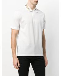 Versace - White Embellished Collar Polo Shirt for Men - Lyst