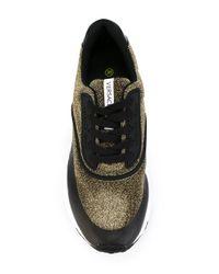 Versace Jeans - Black Glitter-effect Sneakers - Lyst
