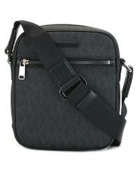 Michael Kors | Black Small 'jet Set' Messenger Bag for Men | Lyst