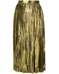 Mes Demoiselles - Metallic Lurex Pleat Skirt - Lyst