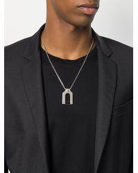 Versus  - Metallic Plate Necklace for Men - Lyst