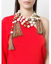 Rosantica - Multicolor Beaded Tassel Necklace - Lyst