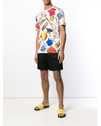Love Moschino - White T-Shirt mit Sport-Print for Men - Lyst