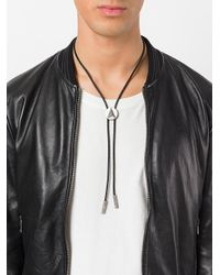 Northskull - Black Bolo Neck Tie Necklace for Men - Lyst