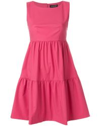 Twin Set - Pink Panelled Flared Dress - Lyst