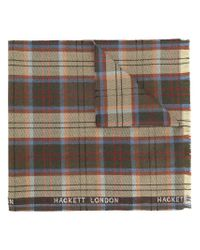 Hackett - Brown Plaid Scarf for Men - Lyst