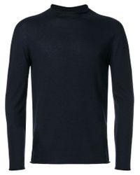 Giorgio Armani | Blue Rolled Neck Jumper for Men | Lyst