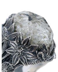 Lyly Erlandsson - Metallic 'Winter Shell' Silberring for Men - Lyst