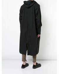Julius - Black Asymmetric Front Coat for Men - Lyst