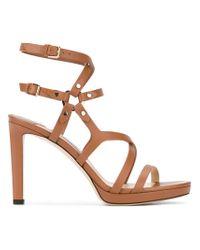 Jimmy Choo - Brown 'monica' Sandals - Lyst