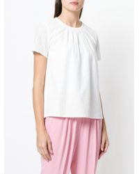 Twin Set - White Round Neck T-shirt - Lyst