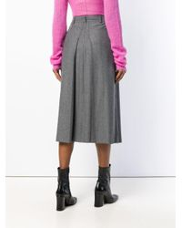 RED Valentino - Gray Pleated Skirt - Lyst