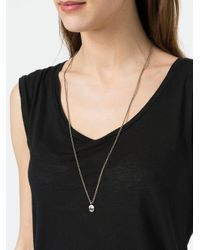 Tobias Wistisen - Gray Eroded Pendant Necklace - Lyst