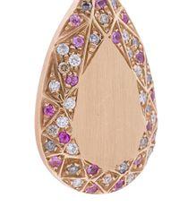 Carolina Bucci - Metallic Pave Frame Pear Cut Earrings - Lyst