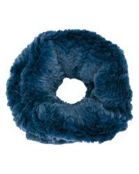 Yves Salomon | Blue Fur Stole | Lyst