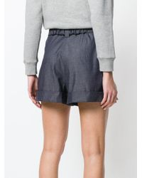 N°21 - Blue High-waisted Denim Shorts - Lyst