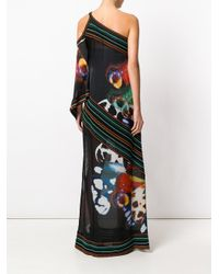 Roberto Cavalli   Black Butterfly Wing Print Gown   Lyst