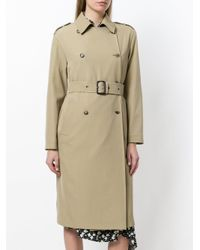 Etro Brown Embroidered Trench Coat