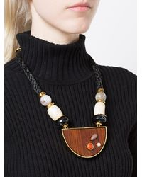 Lizzie Fortunato - Black Noble Surfer Ii Necklace - Lyst