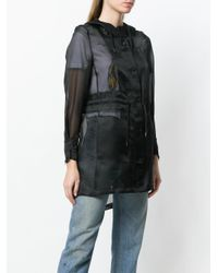 Herno - Black Sheer Button Up Coat - Lyst