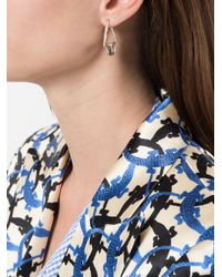 Niza Huang - Metallic Delta Stone Earrings - Lyst