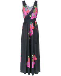 Amir Slama - Black Flower Print Jumpsuit - Lyst