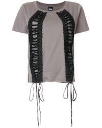 KTZ - Green Lace-up T-shirt - Lyst