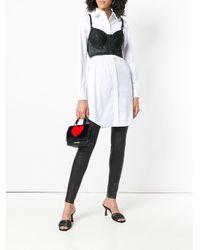 Love Moschino - Black Faux Fur Heart Mini Bag - Lyst