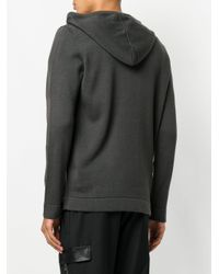 Les Hommes - Gray Classic Drawstring Hoodie for Men - Lyst