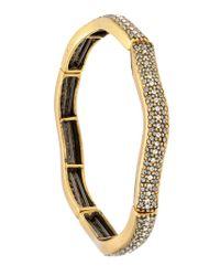 Camila Klein - Metallic Strass Encrusted Bracelet - Lyst