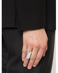 Vivienne Westwood - Metallic 'armour' Ring for Men - Lyst