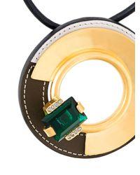 Marni - Black Circular Disc Necklace - Lyst