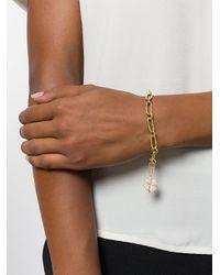 Aurelie Bidermann - Metallic Signature Clover Diamond Charm Pendant - Lyst