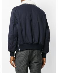 Joseph | Blue Zipped Bomber Jacket for Men | Lyst