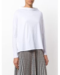 Vince - White Boat Neck Top - Lyst
