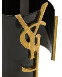 Saint Laurent - Black Monogram Cuff - Lyst