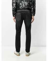Pence - Black Stitch Detailed Jeans for Men - Lyst