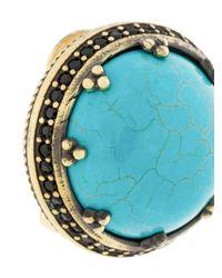 Iosselliani - Metallic Elegua Turquoise Clip-on Earrings - Lyst