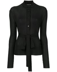Emilio Pucci - Black Belted Ribbed-knit Cardigan - Lyst