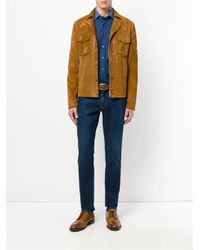 Etro - Blue Contrast Collared Fitted Shirt for Men - Lyst