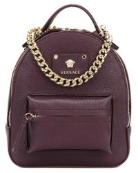 Lyst - Versace Medusa Backpack in Red 9dd1aba6c1