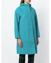 Mackintosh - Blue Hooded Raincoat - Lyst