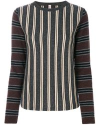Antonio Marras - Gray Striped Knitted Sweater - Lyst