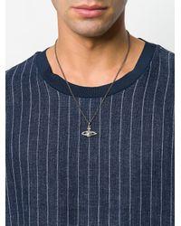 Vivienne Westwood - Metallic Logo Charm Necklace for Men - Lyst