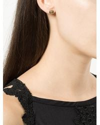 Jacquie Aiche - Green Stud Earring - Lyst