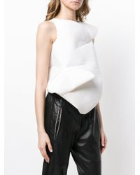 Junya Watanabe - White Structured Top - Lyst