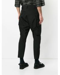 Song For The Mute - Black Kick Cropped Cargo Pants for Men - Lyst