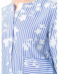 Altuzarra | Blue Striped Butterfly Shirt | Lyst